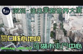 佳兆業新世界大廈_深圳 關口核心地段 羅湖市東門中心 (實景航拍)