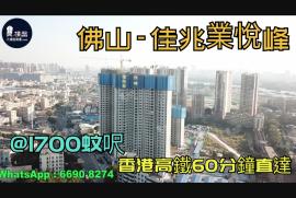 佳兆業悅峰_佛山|@1700蚊呎|香港高鐵60分鐘直達|香港銀行按揭 (實景航拍)