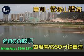 恆福山語海_惠州 @800蚊呎 香港高鐵60分鐘直達 香港銀行按揭(實景航拍)