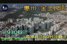 金玉良園_惠州|@930蚊呎|香港高鐵60分鐘直達|香港銀行按揭(實景航拍)