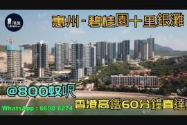 碧桂園十里銀灘_惠州 首期5萬 香港高鐵45分鐘直達 香港銀行按揭(實景航拍)